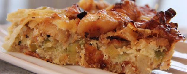 Tarte aux pommes aux poireaux et au gruy re sans gluten compl tement poireau - Tarte aux poireaux sans oeufs ...